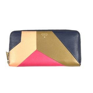 Fossil Leather Color block Wallet